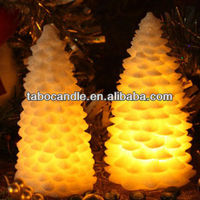 unique christmas candle/LED gift christmas tree shape candles