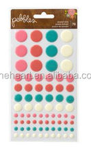 Hot Sale Coustom Happy Day Epoxy Dots 3d wall sticker