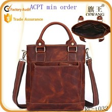 2015 top cow leather brief case fashion retro handbag win messenger bags