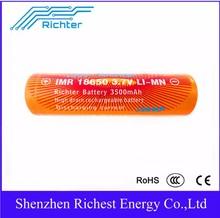 aaa/aa large capacity 3500mah 18650 Li-Lon battery customized battery terminal interface