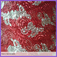 Elegant sequin mesh lace fabric for dress