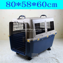 Dog Flight Carrier with wheels