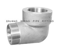 Forged High Pressure Pipe Fittings Threaded Stainless Steel 90 degree elbow threaded 3000lb