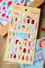 Funny Sticker World!Ice crream Sticker & Custom 3D Kawaii Epoxy Sticker