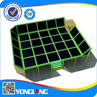 YL-BC001 Yonglang 's top quality cheap price professional commercial gymastics outdoor square trampoline for sale made in china