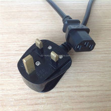 power cable uk type uk 3 pin mains plug to iec320 c7 inlet uk power cable