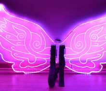magic Dance props plastic led wing/ led butterfly