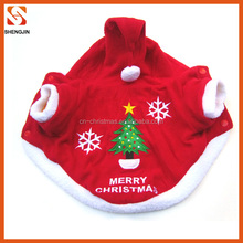 christmas holiday pet clothes embroidery pattern three size wholesale dog clothes