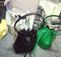 fancy drawstring bucket lady fashion bag for shopping