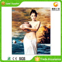 Factory supply painting and calligraphy diamond abstract nude girl body painting for sale