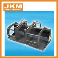 Quality skid steer loader attachments for grabing grasses Grapple bucket for sale