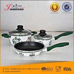 Removable Handle Enamel Coating Cookware Set And Cookware Parts