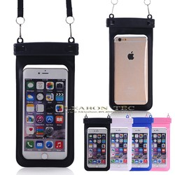 2015 high quality Waterproof Bag Case with Strap for iPhone,HTC,Blackberry, iPod Touch, Cell phone, MP4