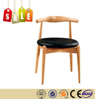 Restaurant chair leather cushion solid wood benches waiting rooms on sale