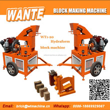 WANTE MACHINERY WT1-20 used clay brick making machine for making clay interlocking bricks