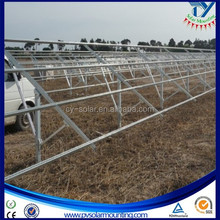 Hot Dip Galvanized steel Ground Solar Panel Mounting System with Single Column