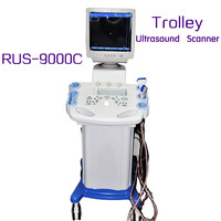 Trolley Mobile Type Ultrasound Scanner RUS-9000C With Convex Micro-convex linear rectal transvaginal probe
