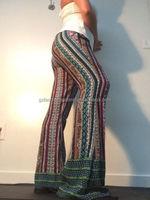 wholesale printed maxi long pants wide leg pantalones woman