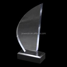 Gotitas de agua forma trofeo de acrílico con soporte de exhibición