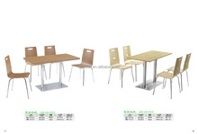 Timber Veneer Wood Top Dinning Table,Plywood Shell Table and Chair
