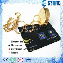 Gold Pendant Adding Negative Ions High Quality Pendant Metal Pendant with Card And Box