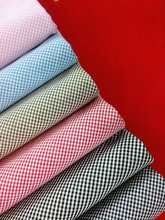 cotton or polyester plaid fabric for shirt and home textile