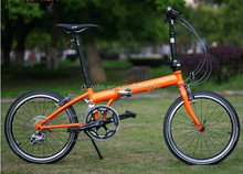 aluminum alloy 20 inch 21 speed folding bicycle made in China