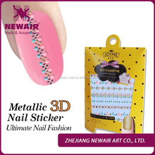 New 2016 wholesale nail arts supplies nail stickers 3d hot stamping decoration stickers for nail art