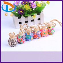 New Arrival 10-15ml Car Hanging Polymer Clay Perfume Empty Glass Bottles