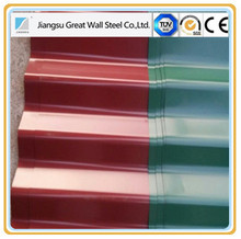 color coated types of roof tiles,cheap latest metal building materials color steel roof tile price