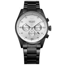 MEGIR Brand Watch quartz movement stainless steel men's Multifunction waterproof calendar Chronograph Watches