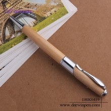 Alibaba stock price wooden ball pen with metal clips