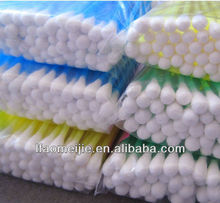 100% pure double tips cotton swab stick