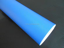 Dark blue 3D carbon fiber car beauty vinyl wrap roll film,1.52*30m with air release glue