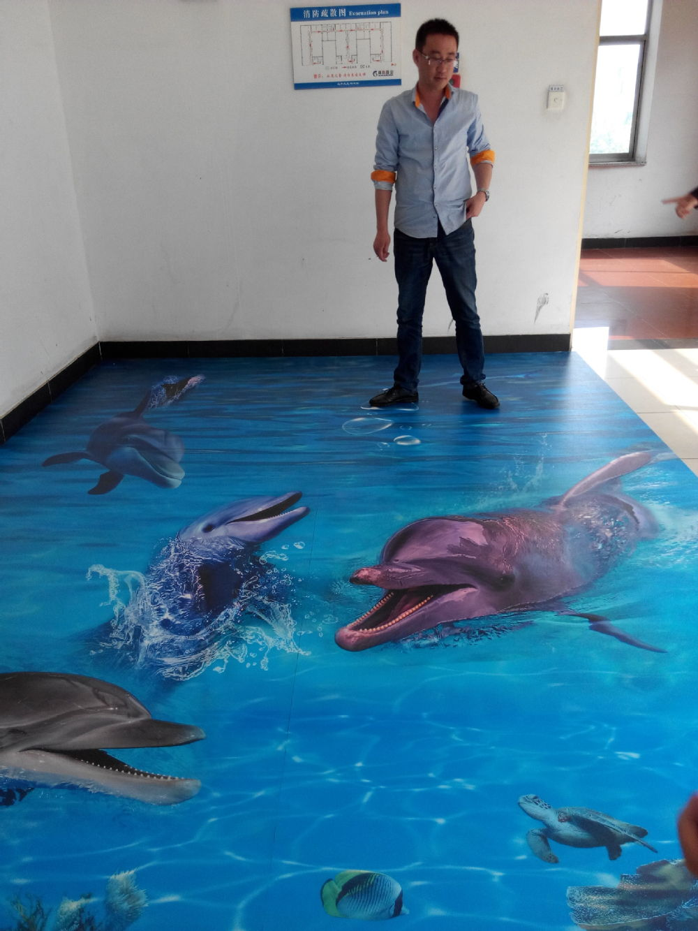 Bathroom used 3d floor murals flooring buy 3d floor for Bathroom floor mural