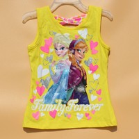 Very Low Price T-shirts Elsa Costume Kids Sleeveless T Shirt