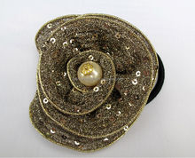 shining flower with a peal for hair accessories&clothing accessories&flower pony