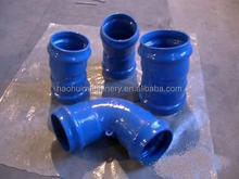 Double socketed flange tee reducer tee