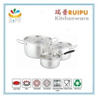 Professional stainless steel waterless cookware /prestige nonstick cookware set large big pots