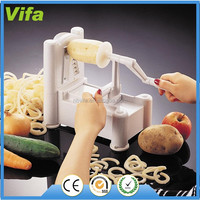 Vegetable Spiralizer & Slicer - Choice of Three Stainless Steel Cutting Blades - Makes Food Processing Easy & Fun