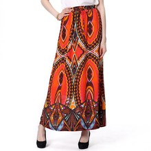 Excellent Quality Sublimated Jersey Printe Maxi Skirt
