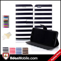 Order Online / Stripe Design Smartphone Wallet Leather Case for iphone 6 Leather Wallet Case+Pen+Screen Protector