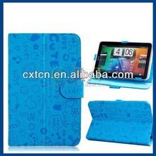 "Patterned Universal Faux Leather Flip Case for 7"" Tablet PC (Blue)"