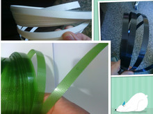VIRGIN MATERIAL GREEN AND BLACK PET STRAPPING