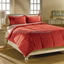 Natural Solid & Striped-Down Alternative Comforter