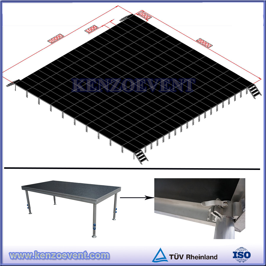 Indoor Hotel Mobile Folding Aluminum Portable Stage With