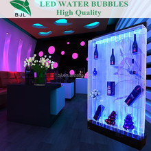 new design water bubble wall wine cabinet acrylic led bar design