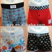 Customized colors & sizes men's underwear boxer