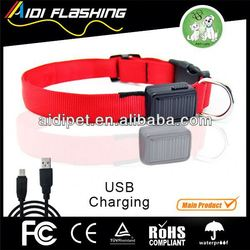 USB&solar rechargeable fancy dog collars small dogs