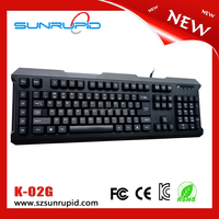 Blue led laser etched characters mechanical gaming keyboard with programmable keys